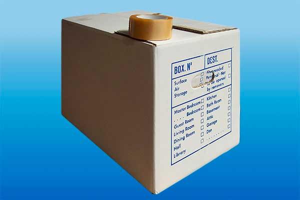 carton emballage stockage